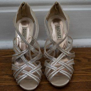 Badgley Mischka Tan Strappy Heel